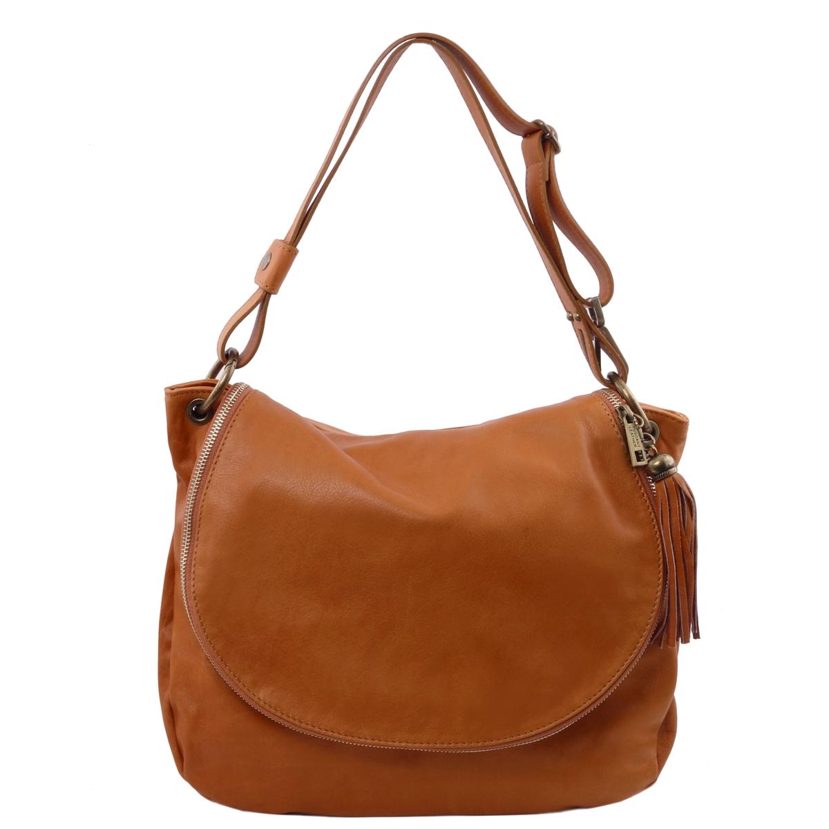6f06699934b6 Tuscany Leather TL141110 Shoulder Bag - Cognac