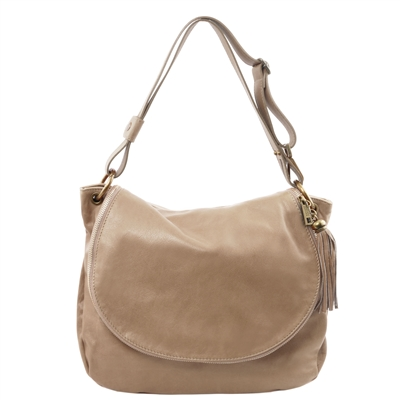 Tuscany Leather TL141110 Shoulder Bag - Taupe | Women's Bags Australia