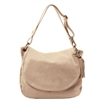 Tuscany Leather TL141110 Shoulder Bag - Light Taupe