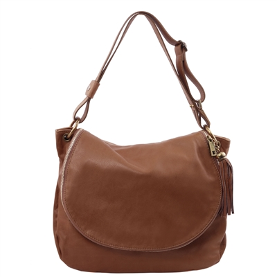 Tuscany Leather Shoulder Bag  - Cinnamon | Genuine Leather Bags Australia