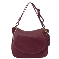 Tuscany Leather TL141110 Shoulder Bag - Bordeaux