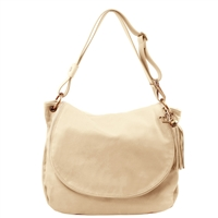 Tuscany Leather TL141110 Shoulder Bag - Beige