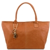 "Tuscany Leather TL141207 ""Sauvage"" leather shoulder bag - Cognac"