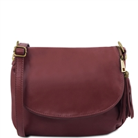 Tuscany Leather TL141223 Small Soft leather shoulder bag - Bordeaux | Women's Bags | Australia