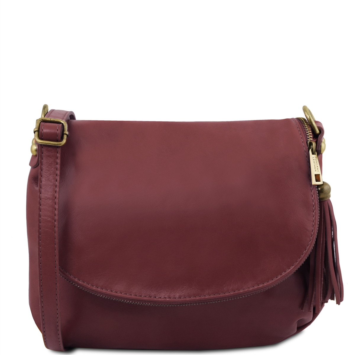 1d464f9c0705 Tuscany Leather TL141223 Small Soft leather shoulder bag - Bordeaux