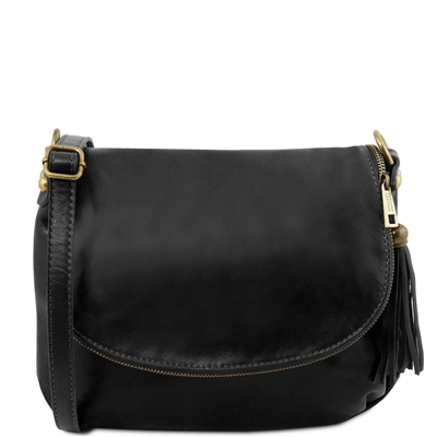 Tuscany Leather TL141223 Small Soft leather shoulder bag - Black | Leather Bags | Australia