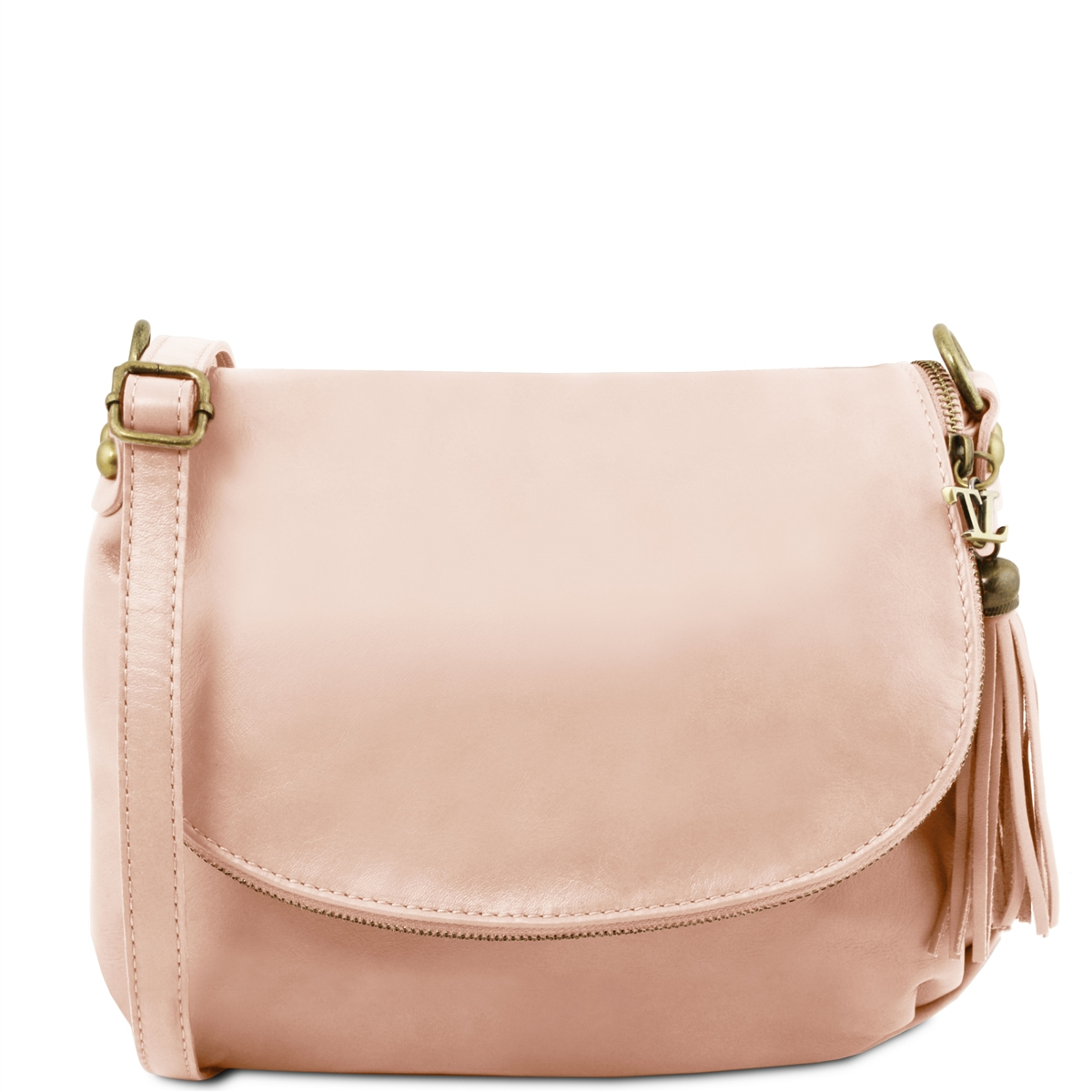 a7035b46232f Tuscany Leather TL141223 Small Soft leather shoulder bag - Nude