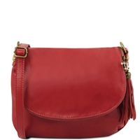 Tuscany Leather TL141223 Small Soft leather shoulder bag - Red