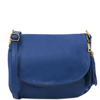 Tuscany Leather TL141223 Small Soft leather shoulder bag - Blue