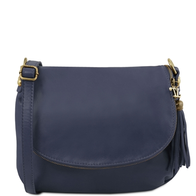 Tuscany Leather TL141223 Small Soft leather shoulder bag - Dark Blue