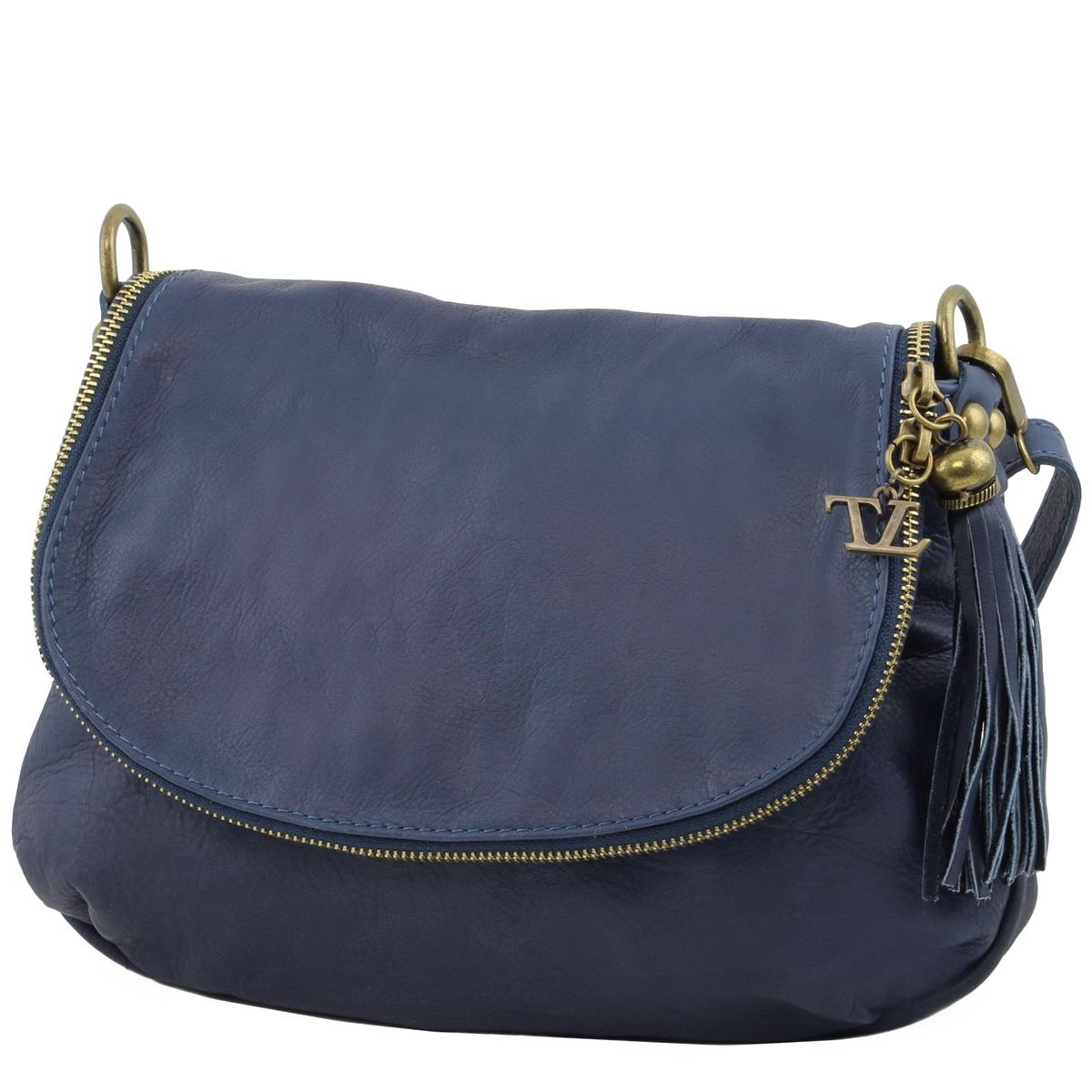 e7f13c2e1ea TL141223 Soft leather shoulder bag - Dark Blue   Tuscany Leather Australia