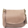 Tuscany Leather TL141223 Small Soft leather shoulder bag - Dark Taupe