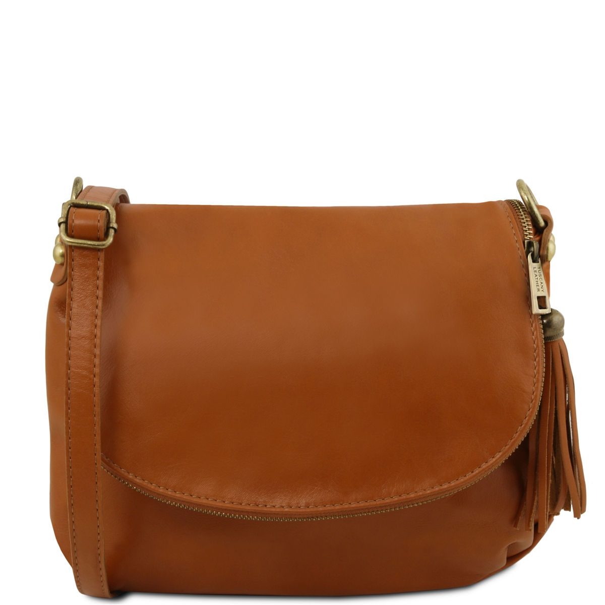 Tuscany Leather TL141223 Small Soft leather shoulder bag - Cognac 81c02e08f6acb