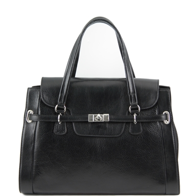 Tuscany Leather Black TL14230 NeoClassic Handbag