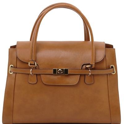 Tuscany Leather TL14230 NeoClassic Handbag - Dark Taupe