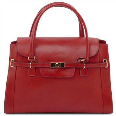 Tuscany Leather TL14230 NeoClassic Handbag - Red
