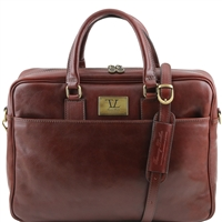 Tuscany Leather TL141241 Urbino Laptop Bag - Brown