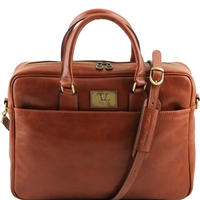 Tuscany Leather TL141241 Urbino Laptop Bag - Honey