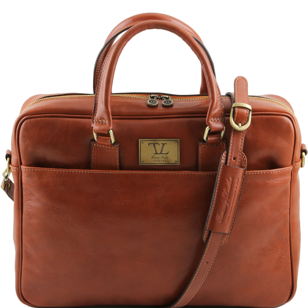 Urbino Laptop Bag - Men's Honey Leather Bag | Avalina Leather