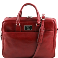 Tuscany Leather TL141241 Urbino Laptop Bag - Red