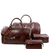 TL141256 Columbus Travel Set by Tuscany Leather