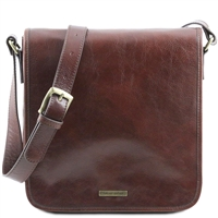 Tuscany Leather Men's Messenger - Brown TL141260 | Men's Bags | Australia