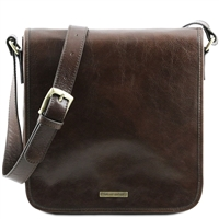 Tuscany Leather Men's Messenger - Dark Brown TL141260 | Men's Bags | Australia