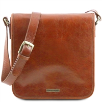 Tuscany Leather Men's Messenger -Honey TL141260 | Men's Bags | Australia