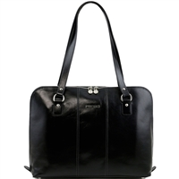 Tuscany Leather TL141277 Ravenna Womens Italian Leather Laptop Bag