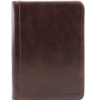 Tuscany Leather TL141287 Luigi XIV Document Case - Dark Brown
