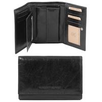 Tuscany Leather TL141314 Exclusive leather wallet for women Black
