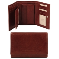 Tuscany Leather TL141314 Exclusive leather wallet for women Brown