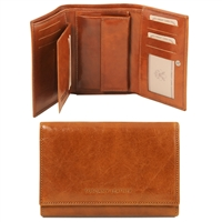 Tuscany Leather TL141314 Exclusive leather wallet for women Honey