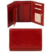 Tuscany Leather TL141314 Exclusive leather wallet for women in red