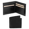 TL141353 Exclusive Leather 3 Fold Wallet for Men - Black