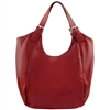 Tuscany Leather TL141537 Gina Leather Hobo Bag - Red