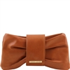 Tuscany Leather TL141358 Priscilla Clutch - Cognac | Leather Bags Australia