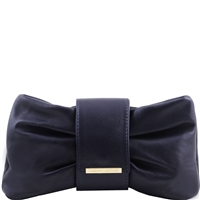 Tuscany Leather TL141358 Priscilla Clutch- Dark Blue