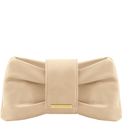 Tuscany Leather Priscilla Clutch- Beige Australia