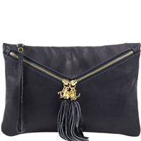 Tuscany Leather TL141359 Audrey Clutch - Dark Blue