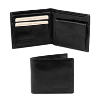 Tuscany Leather  TL141377 Leather Wallet for Men - Black