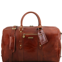 Tuscany Leather TuTL141401 Voyager Travel Bag in Brown
