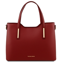 Tuscany Leather TL141412 Olimpia Women's Red Leather Tote | Handbags Australia