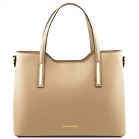 Olimpia Leather Tote Handbag- Champagne | Handbags | Australia | Online