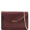 Tuscany Leather TL141417 Iride Ruga Leather Clutch - Bordeaux