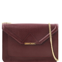 Tuscany Leather TL141417 Iride Leather Clutch Bag - Bordeaux | Leather Bags Australia