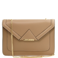 Tuscany Leather TL141417 Iride Ruga Leather Clutch - Light Taupe