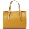 Tuscany Leather TL141434 Aura Leather Handbag - Mustard