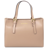 Aura Leather Handbag Champage | Tuscany Leather Handbag | Australia