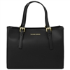 Tuscany Leather TL141434 Ruga Leather Handbag - Black